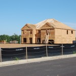 Picture of new residential construction in Del Mar Club subdivision